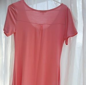 Peach top with lace detail
